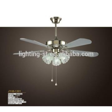 "New 48"" Five-white Blade Ceiling Fan - Brushed Nickel With light Kit ST48-1301"