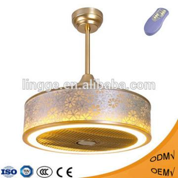 Popular style online shopping low noise decorative home appliances electric ceiling fans with LED light