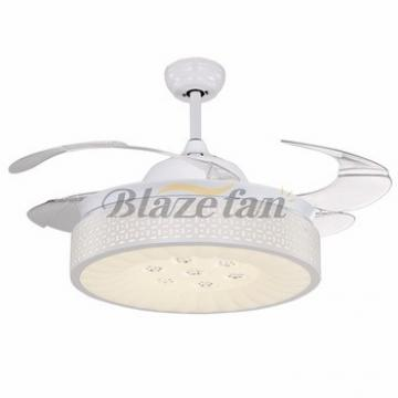 42 inch ceiling fan with hidden blades with LED light 4pcs ABS plastic blade 153*18 moter 42-8965