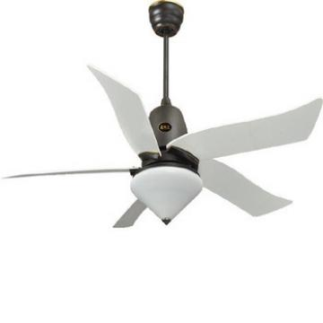 52 inch remote control ceiling fan with 5 pieces plastic blades and single LED light kit