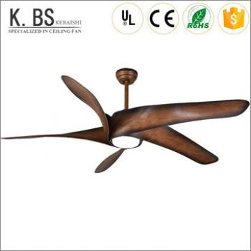 energy saving brown electric 60 inch remote control led ceiling fan with light
