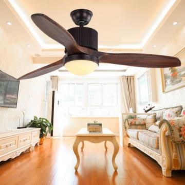 Amazon Hot Sale remote control 48'' 3 blades wood ceiling fan with light