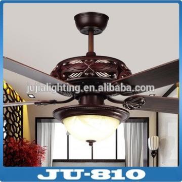 18w red wood ceiling fan light led