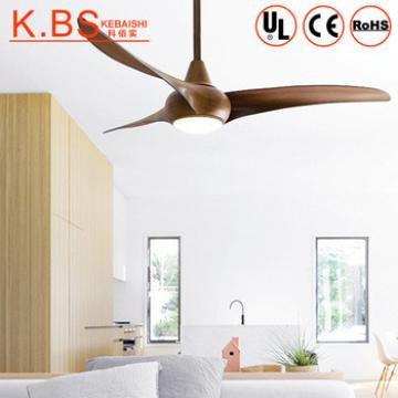 Superior High Speed Electric Door Motor Wood Color Ceiling Fans With Light Led
