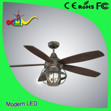 China style 52 inch wooden blades ceiling fan with light and remote
