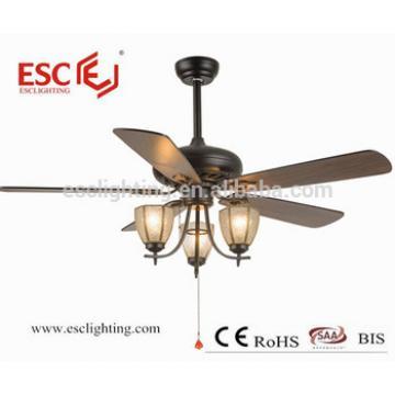 220V ceiling fan light 52inch wooden blade ceiling fan with light home appliances