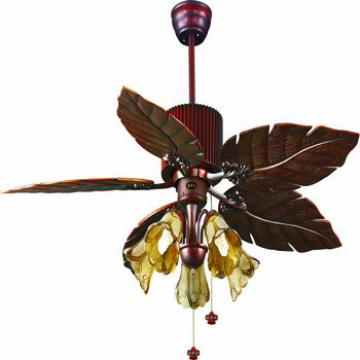 """52"""" ceiling fan with light in bronze finish with 5 pieces ABS blades by pull chain control"""