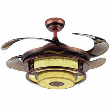 42 inch ceiling fan with hidden blades with LED light 4pcs ABS plastic blade 153*18 moter 42-1106