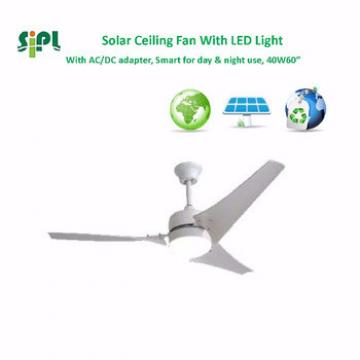 VENT KITS 60 inch 40 watt 24v solar panel powered decorative ceiling fan china supplier rechargeable ceiling fan with good price