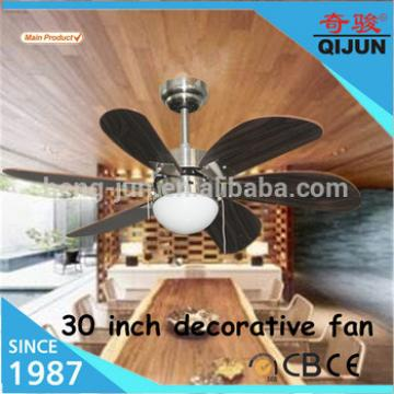 5 MDF wood blade with 1 light decorative fan/factory price decorative ceiling fan specification