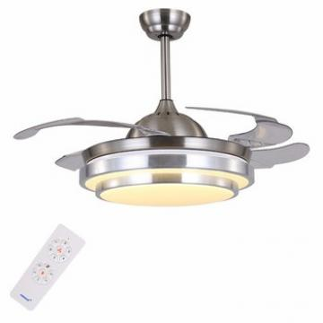 China hot sell high quality modern design hidden blades ceiling fans