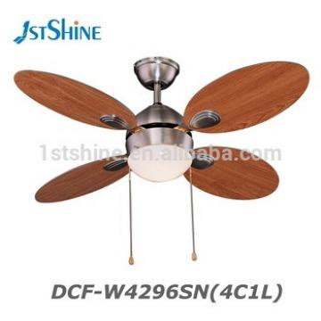 42 Inch Polished Chrome 4 MDF Blade 1 Light Decorative Ceiling Fan