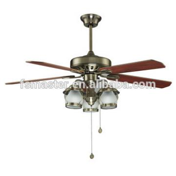 antique decorative energy saving plywood blade ceiling fan with light