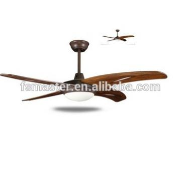 new LED light home use 4 wood blades modern ceiling fan