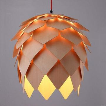 Latest fashion Home indoor wooden frame fancy wood Pendant Light