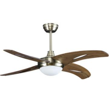 solid wood blade ceiling fan with LED light and remote control energy saving fans