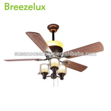 Home appliances 52 inch Silent ceiling fan lights with wooden blade
