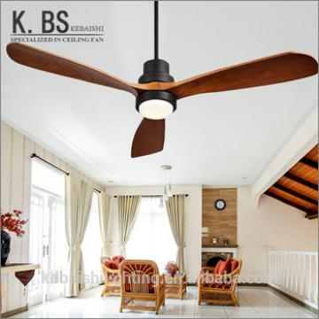 2018 New Products Professional factory Simple 3 Solid Wood Blades Ceiling Fan With Light