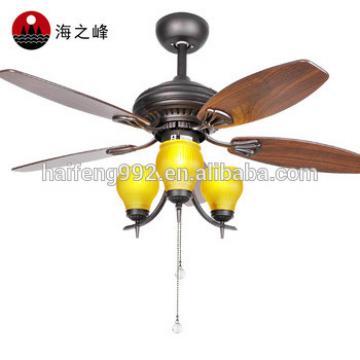 zhongshan 42 inch tea color wooden fan blade ceiling fans with 3 lights