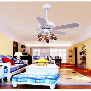 Simple elegant design wood blade ceiling fan with warm,white light