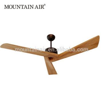 MOUNTAIN AIR Electrical DC motor natural wood ceiling fan 60YFT-806