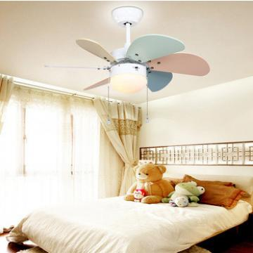 """30"""" mini ceiling fan for Children room low profile flush mount wood blade hot sale ceiling fan with LED lights"""