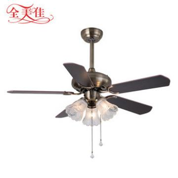 2018 Guzhen lighting market dc motor classic decorative style 5 blades remote control ceiling fan with lamp