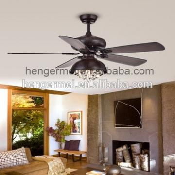 2017 New Arrival Stylish Remote Control Air Cool Industrial Luxury Crystal Ceiling Fan With Light
