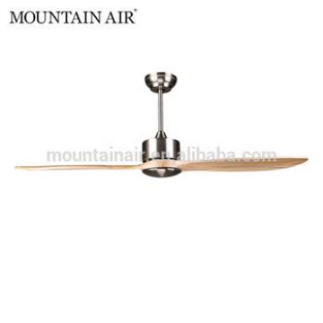 MOUNTAIN AIR electrical DC natural wood 2 blades ceiling fan 52YFT-807