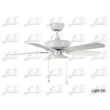 East Fan 42inch Five Blade Indoor Ceiling Fan with light item EF42102 White ceiling fans