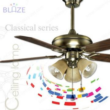 42 inch home decorative wood blade ceiling fan with light lamp