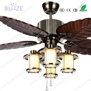 wooden blade ceiling fans with led light