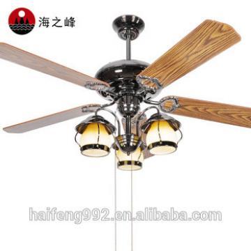 wooden fan blade ceiling fans in pearl black color