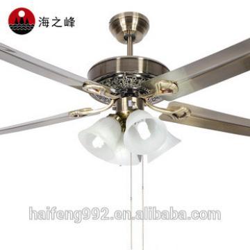 42inch metal fan blade ceiling fans with lamps in Guzhen