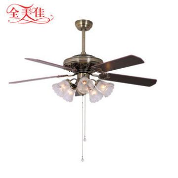 Five-light five-blade indoor wood blades 220 volt ceiling fan for rooms up to 20 square feet