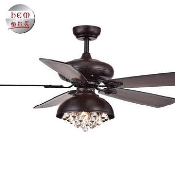 5 Blade Dc Motor Crystal Chandelier Ceiling Fan Ac Ceiling Fan With Light And Remote
