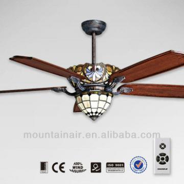 Tiffany real wood blade Remote control Ceiling Fan