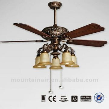 Wood balde 52 inches ceiling fan lighting