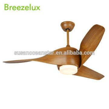 Hot Sale European Style Glass Lampshade LED 12W Ceiling Lamp Fan Remote Control Brown ABS Blade Ceiling Fan With Light
