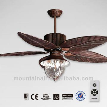 Wood hand craft blade ceiling fan lamp