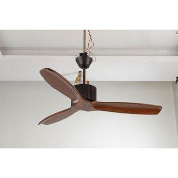 Jiangmen factory special real wood blade remote control ceiling fan
