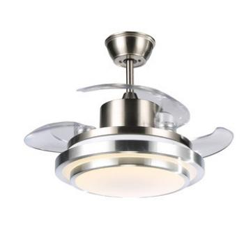 Arylic lamp shape round shape ceiling fan simple design ceiling fans with LED lights