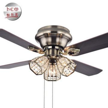 Hand Pull Crystal Ceiling Fan Manufacturer Electric Ceiling Fan With Light