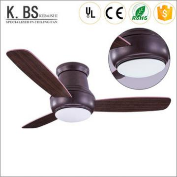 hot selling 42inch brown wood blade modern remote control ceiling fan 18w led pendant light