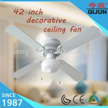 Mexico /SouthAmerica 42 inch decorative ceiling fans with light/pull rope control
