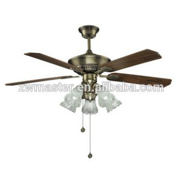 decorative CB CE 5 plywood blade cooling LED lights ceiling fan