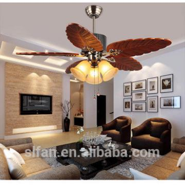 48 inch ceiling fan with 5 pieces wood blade glass led light,CE,UL approves energy saving