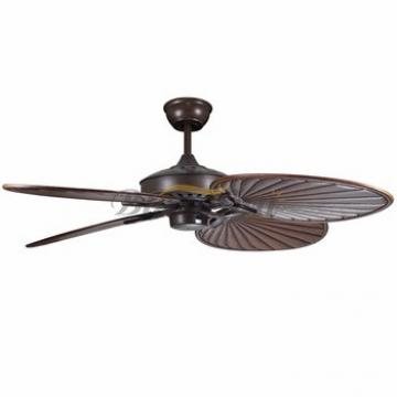 52 inch Remote control decorative ceiling fan 4 Natural wood blade 188*12 moter 52-1308