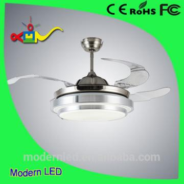 ceiling fan with LED light 42inch retractive blade
