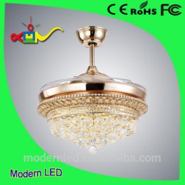 Modern Ceiling Fan Crystal Chandelier 42 inch